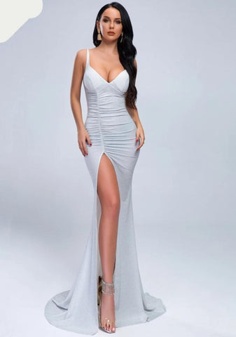 KELLIPS Backless Stretch Maxi Floor-Length Dress