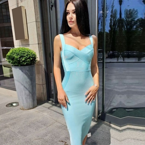 KELLIPS Backless Club Sexy Bodycon Party Bandage Dress