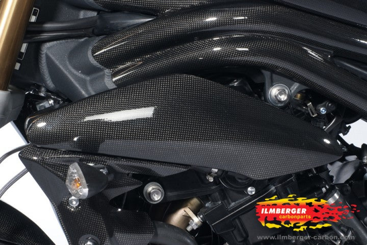 ILMBERGER Carbon Fiber Right+Left Side Panel 2011-2012 Triumph Speed Triple / R 1050 - motostarz.com