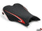 LuiMoto Team Triumph Seat Cover 2006-2012 Triumph Daytona 675/R - CF Black/Red/White