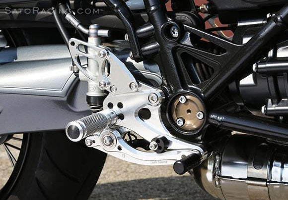 Sato Racing Adjustable Rearsets for 2014-2015 BMW R Nine T