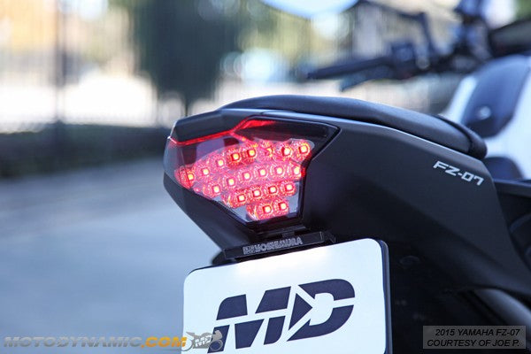 Motodynamic Sequential LED Tail Light for Yamaha FZ07 YZF R3 2014