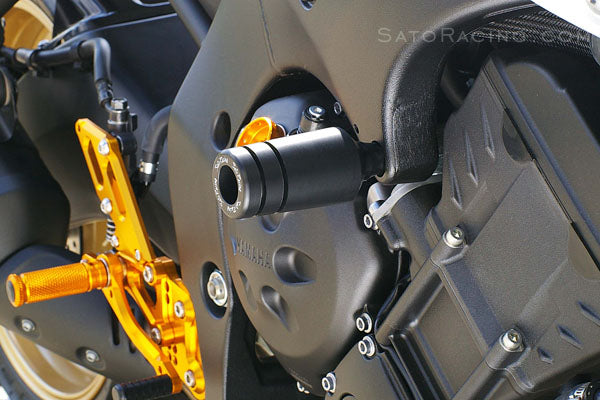Sato Racing Frame Sliders for 2010-2013 Yamaha FZ8, 2006+ FZ1