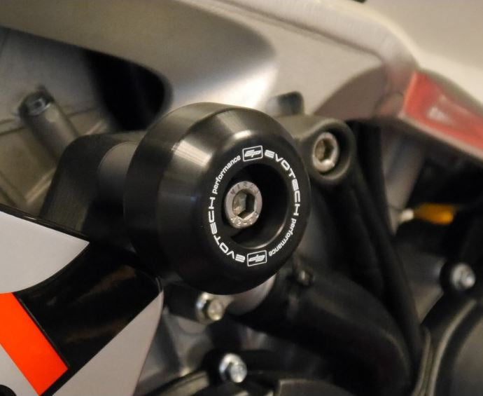 Evotech Performance Frame Sliders / Crash Bobbins 2009-2019 Aprilia RSV4/APRC/Factory/RR/RF