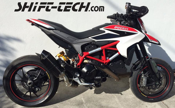 "Shift Tech 10"" Carbon Slip-On (Standard Version) For 2013-2014 Ducati Hypermotard/Hyperstrada 821"