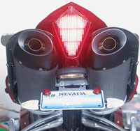 Clear Alternatives Intergrated Tail Light for 07-08 Yamaha R1 - Smoke Lense