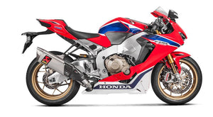 Akrapovic Slip-On Line (Titanium) Exhaust for 2017+ Honda CBR1000RR | ECE Approved | S-H10SO17-HAPXLT