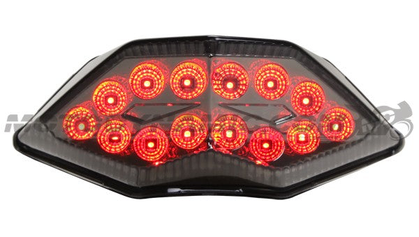 Motodynamic Sequential LED Tail Light 2013-2017 Kawasaki Ninja 300 - Smoke