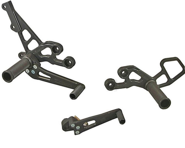 Woodcraft Complete Rearset Kit for '06-'10 Suzuki GSXR 600/750