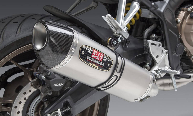Yoshimura Race R-77 Stainless Full Exhaust w/Stainless Muffler For '19-'20 Honda CB650R