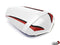LuiMoto Raven Edition Seat Cover 2009-2012 Yamaha YZF R1 - CF White/Red