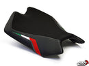 LuiMoto Team Italia Leather Seat Covers 2009-2018 Aprilia RSV4 | Rider - motostarz.com