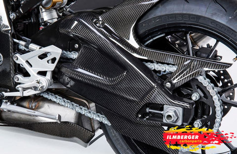 ILMBERGER Carbon Fiber Swingarm Cover Set (Left + Right) '10--'16 BMW S1000RR/HP4, '14-'16 S1000R