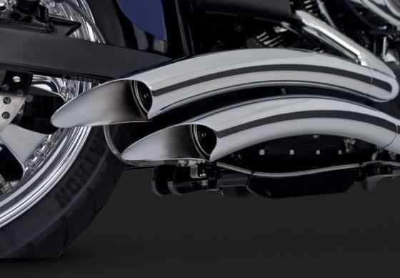 Vance & Hines Big Radius 2-into-2 Exhaust System for '06-'11 Harley-Davidson Dyna [26013 / 46013]