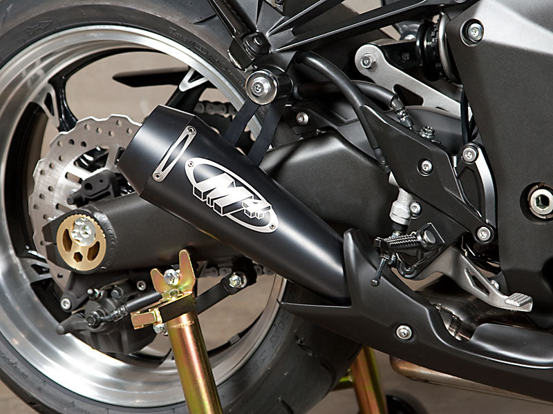 M4 GP Black Dual Slip-On Exhaust System 2010-2015 Kawasaki Z1000