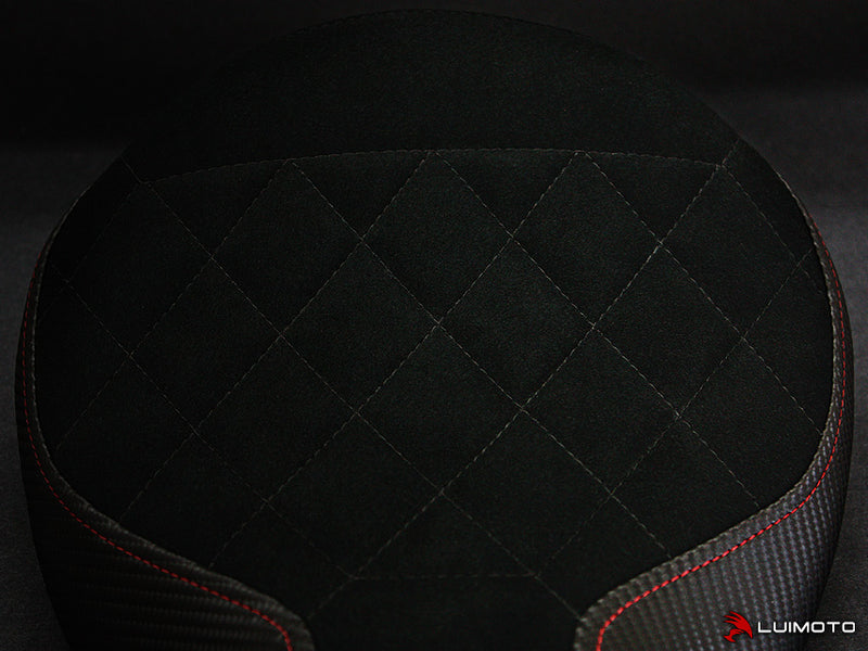 Black Diamond Quilt w/Red Stitch On The Sides Shown