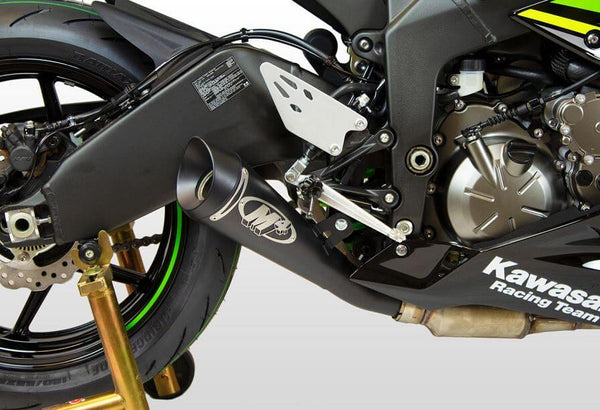 M4 GP19 Black Slip-On Exhaust '13-'19 Kawasaki ZX6R