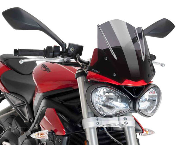 Puig New Generation Naked Windscreen '17-'18 Triumph Street Triple S