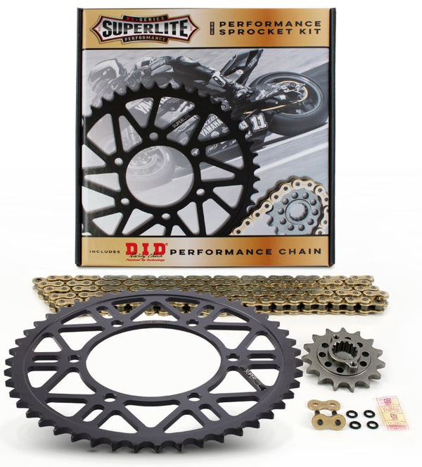 Drive Systems Superlite RS7 525 Steel Sprocket Chain Kit for '14-'19 Yamaha FZ07 / MT07 / XSR700