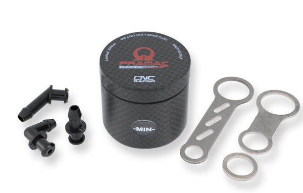 CNC Racing Carbon Fiber 25ml Pramac Racing Limited Edition Brake / Clutch Fluid Tank Reservoirs