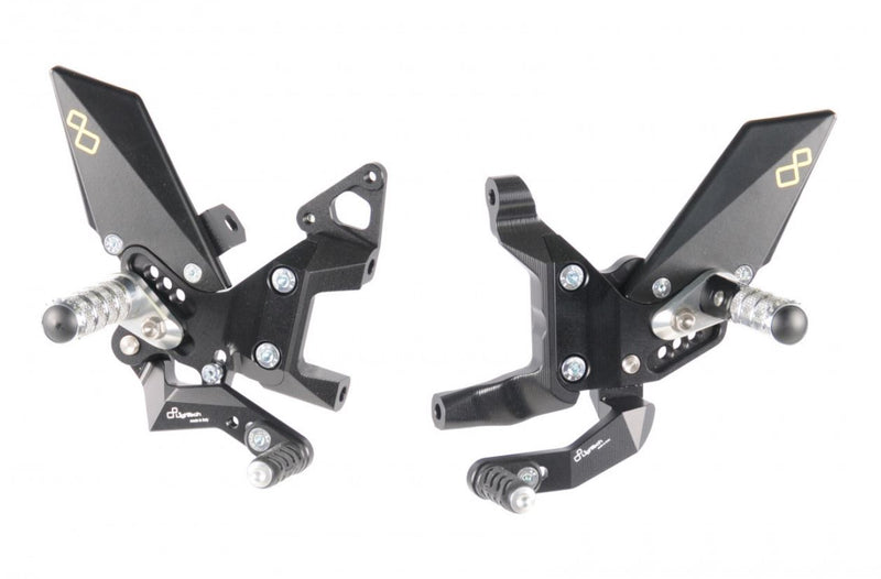 LighTech Track System Adjustable Rearsets for Ducati 899/959/1199/1299 Panigale
