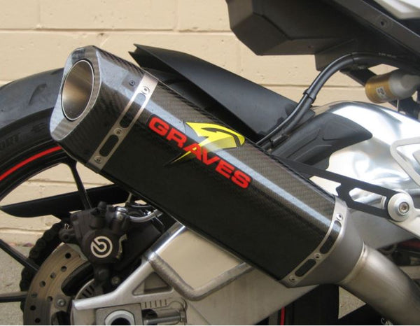 Graves Motorsports Carbon Cat Black Slip On Exhaust '15-'16 BMW S1000RR