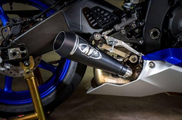 M4 GP Black Slip On Exhaust System '06-'20 Yamaha R6 - Motostarz USA