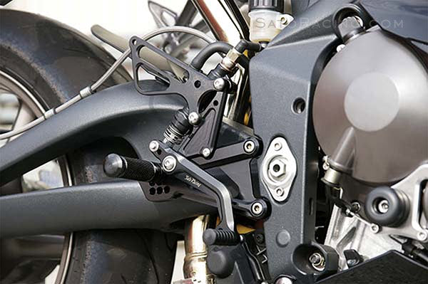 Sato Racing Rear Set Kit For 2006-2012 Triumph Daytona 675 / Street Triple - Black