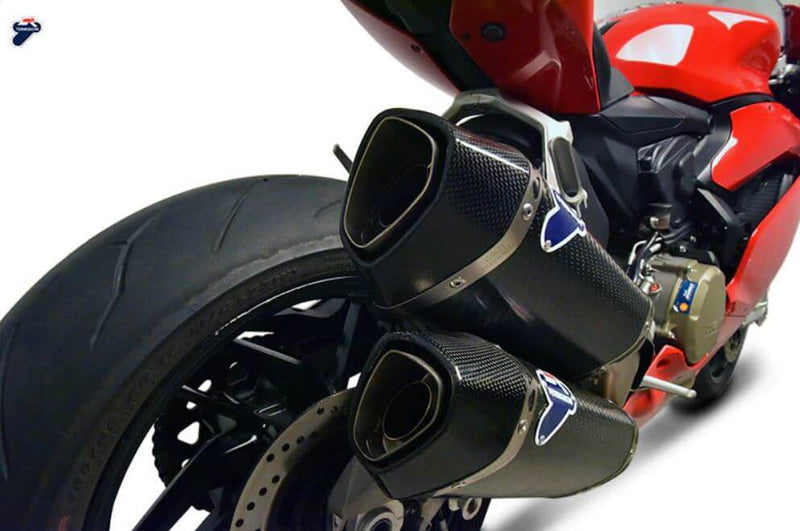 Termignoni Force Stainless/Carbon Slip-On Exhaust '16-'19 Ducati Panigale 959