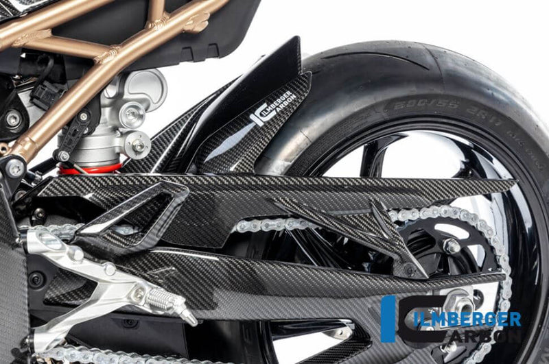 ILMBERGER Carbon Fiber Rear Hugger w.Chain Guard '19-'20 BMW S1000RR