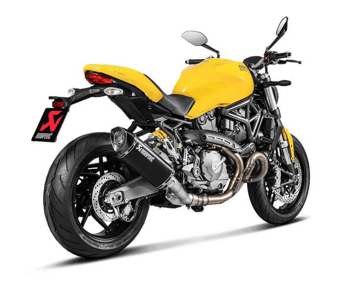 Akrapovic Slip-On Line (Titanium Black) Exhaust for Ducati Monster 821, Monster 1200/S/R/25 Anniversario (Muffler Only)