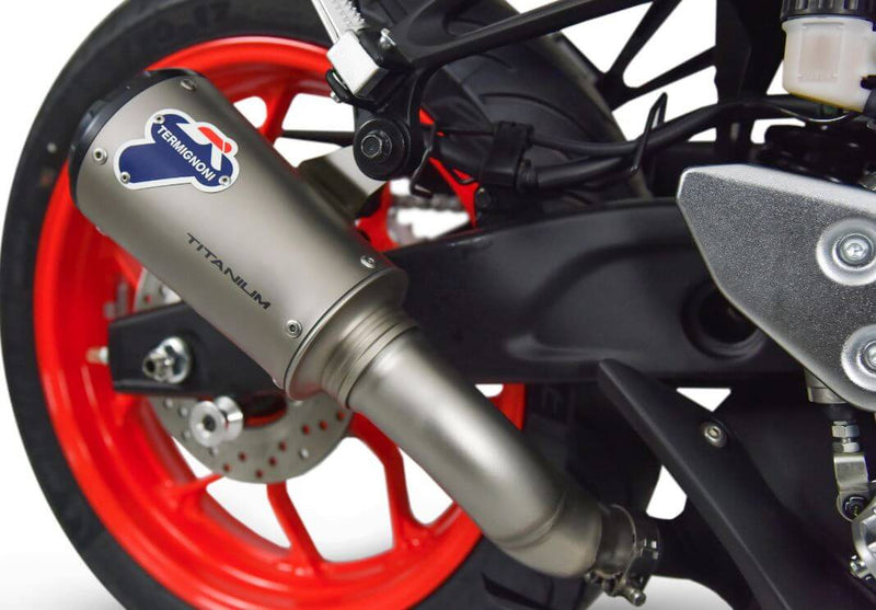 Termignoni SO-02 Titanium Slip-On Exhaust '15-'19 Yamaha YZF R3/MT-03