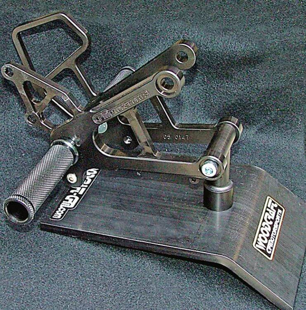 Woodcraft Complete Rearset Kit for '07-'08 Kawasaki ZX-6R