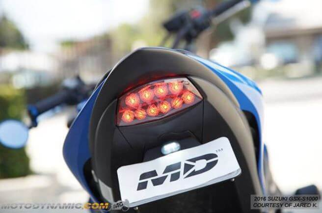 Motodynamic Sequential LED Tail Light '16-'19 Suzuki GSX-S1000, '18-'19 GSX-S750/Z
