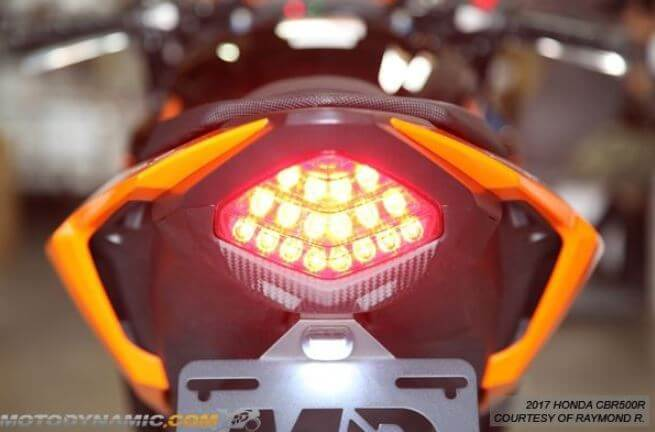 Motodynamic Sequential LED Tail Light 2016-2018 Honda CBR500R/CB500F/CB500X