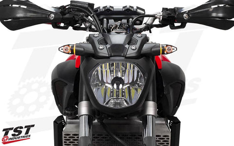 TST Industries Mech-GTR Front LED Turn Signals for Yamaha FZ/MT Models