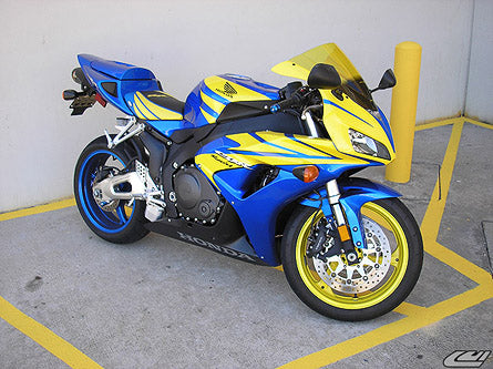 LuiMoto Tribal Flight CF Seat Covers 2004-2007 Honda CBR1000RR - CF Black/Yellow/Blue