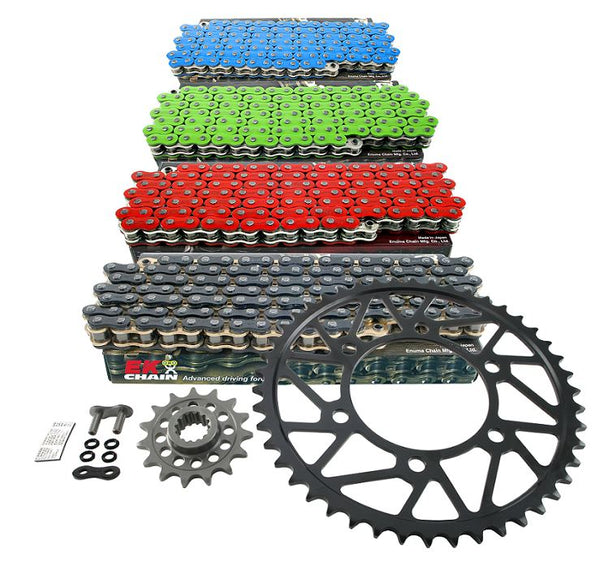 Drive Systems Superlite RS8-R 520 Conversion Alloy Race Sprocket Set w.EK Qudra-X Ring Chain for 2015 Yamaha YZF R1/R1M