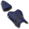 LuiMoto Flame Edition Seat Cover 06-07 Yamaha YZF-R6 - Deep Blue/Cf Black