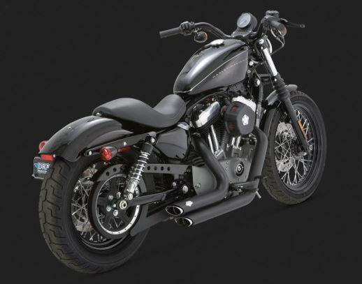 TCMT Staggered Shortshot Exhaust Pipes Fits For Harley Sportster Iron 883 XL1200 2004-2013