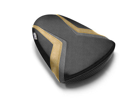 LuiMoto Team Suzuki Seat Covers 2007-2008 Suzuki GSX-R1000 - Cf Black/Gunmetal/Deep Gold
