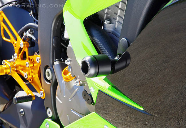 Sato Racing Frame Slider Kit for 2013 Kawasaki ZX6R 636