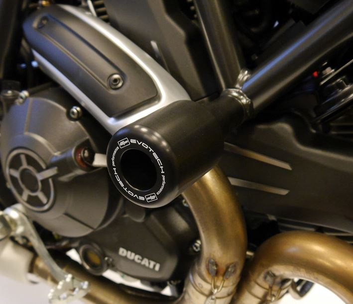 Evotech Performance Crash Protection / Frame Sliders 2016-2018 Ducati Scrambler Sixty2