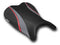 LuiMoto Team Suzuki Seat Covers for 2006-2007 Suzuki GSX-R 600/750 - CF Black/CF Gunmetal/CF Red