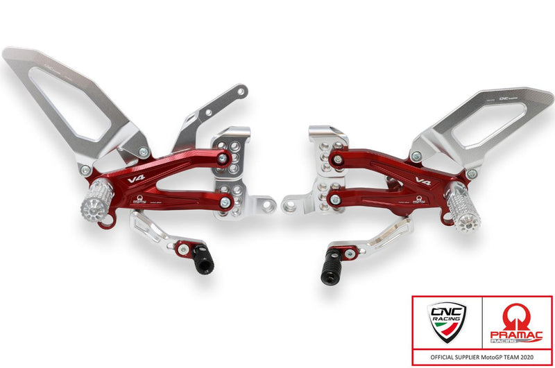 CNC Racing Pramac Racing Limited Edition Rearsets for Ducati Streetfighter V4/S