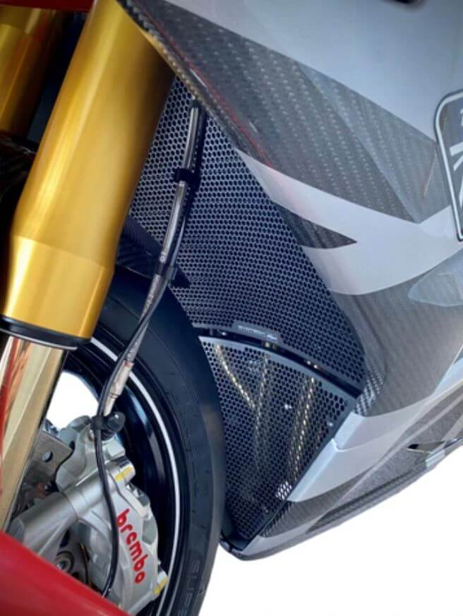 Evotech Performance Radiator Guard & Exhaust Header Protection 2013-2017 Triumph Daytona 675 / R