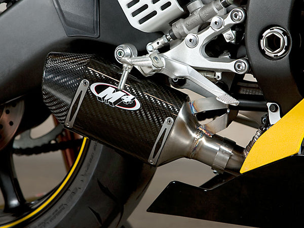 M4 Street Slayer Carbon Slip On Cat Eliminator Exhaust System 2006-2017 Yamaha R6