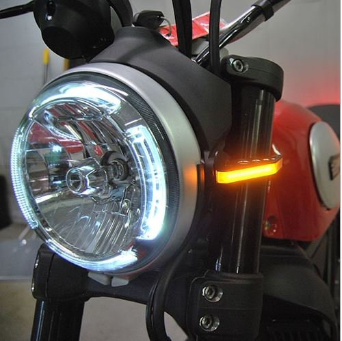 New Rage Cycles Front Turn Signals 2015+ Ducati Scrambler | SCRAMBLER-FB