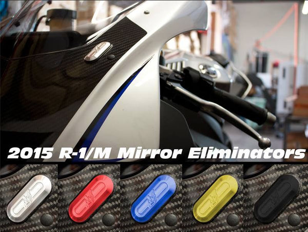 Driven Racing Mirror Block Off Plates 2015-2018 Yamaha R1/R1M/R1S