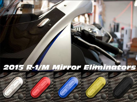 Driven Racing Mirror Block Off Plates for 2015 Yamaha R1/R1M